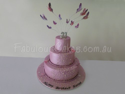 21st-pink-birthday-cake