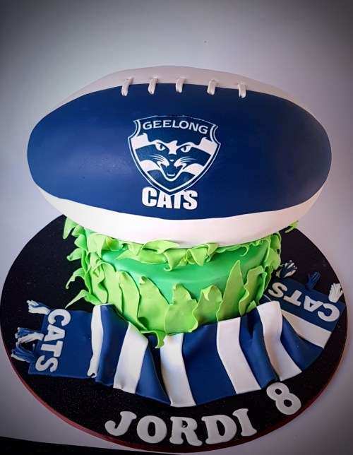 Geelong Cats Footy Cake