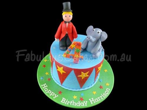 Harrison the Ringmaster Birthday Cake