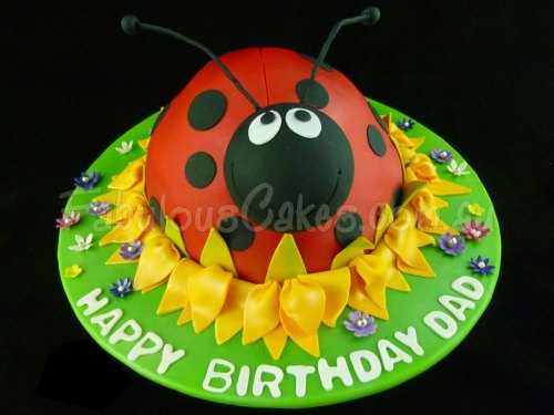 Lady Bug Birthay Cake