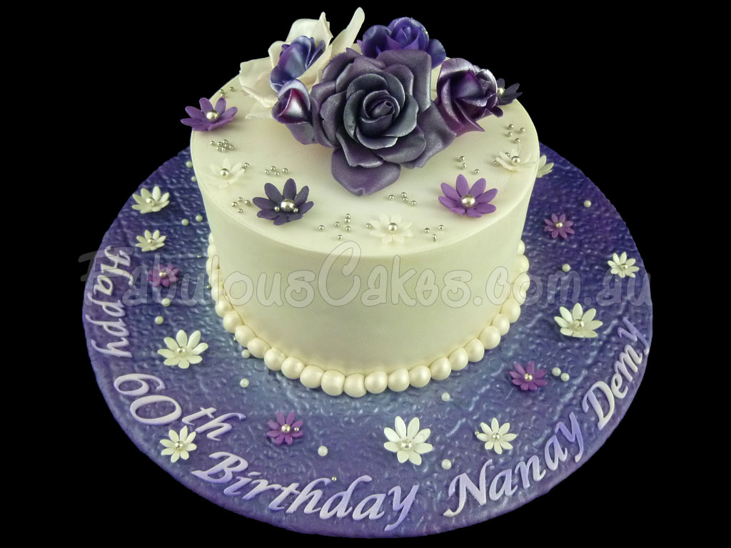 Birthday Cake Designs For A Lady : 60th Birthday Cakes Fabulous Cakes