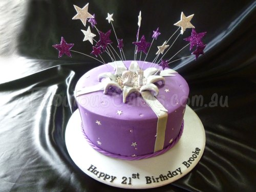 purple-birthday-cake
