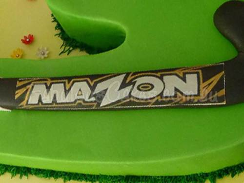 Hockey Stick Birthday Cake