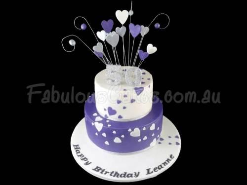 Love Hearts Birthday Cake