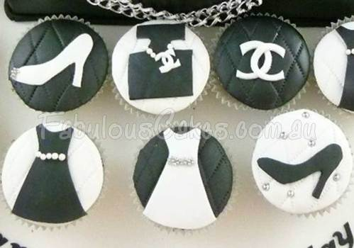 Chanel Hand Bag and Cupcakes