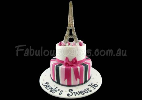 Eiffel Tower 16th Birthday Cake