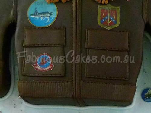 Gun Bomber Jacket Birthday Cake