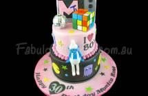 80's Theme Birthday Cakes