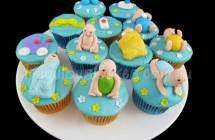 Baby at Water Park Cupcakes