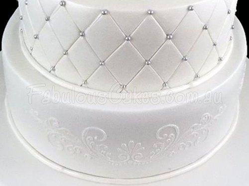 Classic White Wedding Cake
