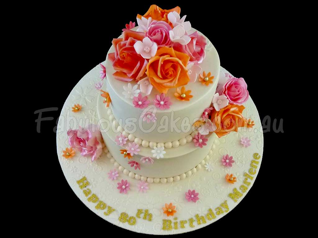 80th Birthday Cakes Fabulous Cakes