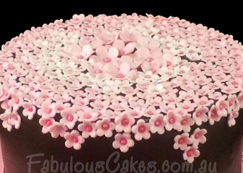 Pink Blossoms Cake