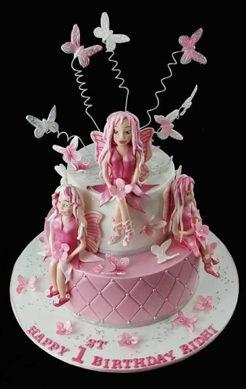 Fairies first birthday cake