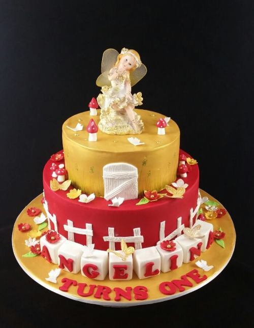 Garden Fairy Theme Cake