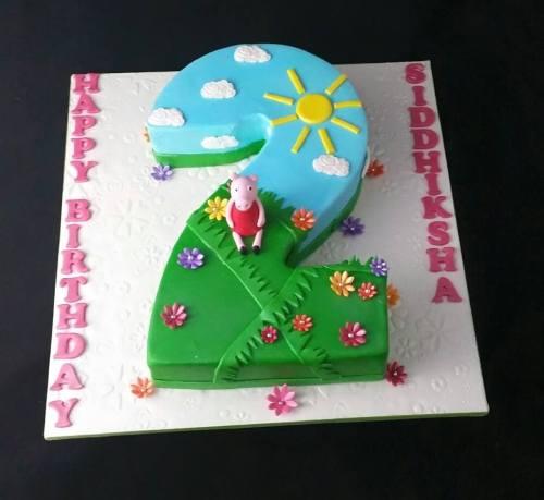 Pepa pig theme cake