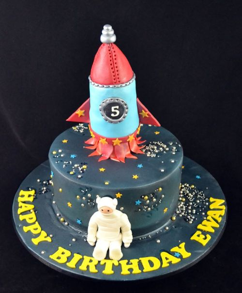 Rocket Theme Cake