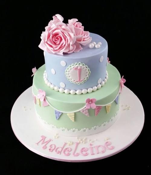 Vintage first birthday cake