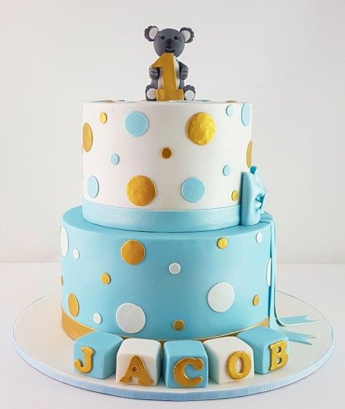 1st Birthday Cake with Koala