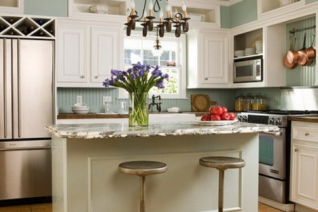 9 stunning kitchen and kitchen island designs patterned stone countertops