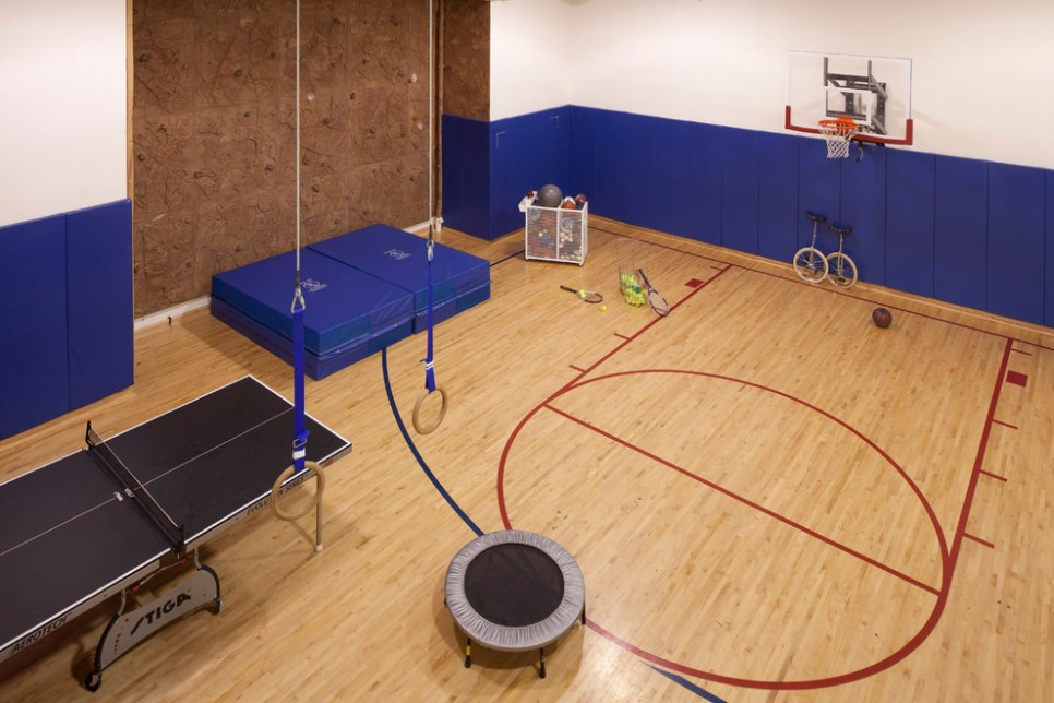 Basement basketball court ideas