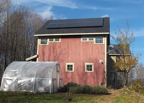 A solar installation in Waterbury, from suncommon.com