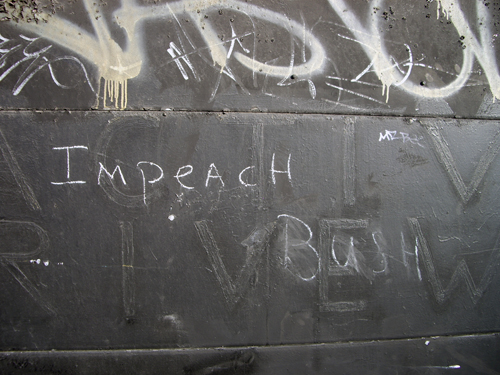 Active Driveway - Impeach Bush, BQE/Hicks Street -Walking back from the Atlantic Antic 2007