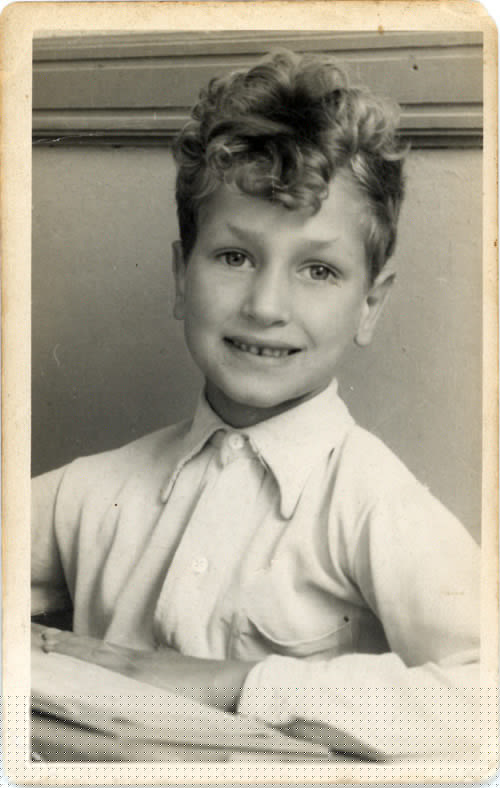 Frans Broekveldt as a child.