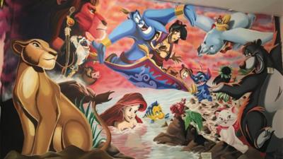 Cameretta a tema Disney: l'impresa di un papà artista