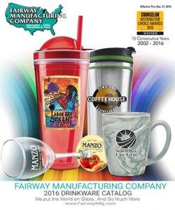 Fairway Manufacturing Co. Custom 2016 Drinkware Catalog