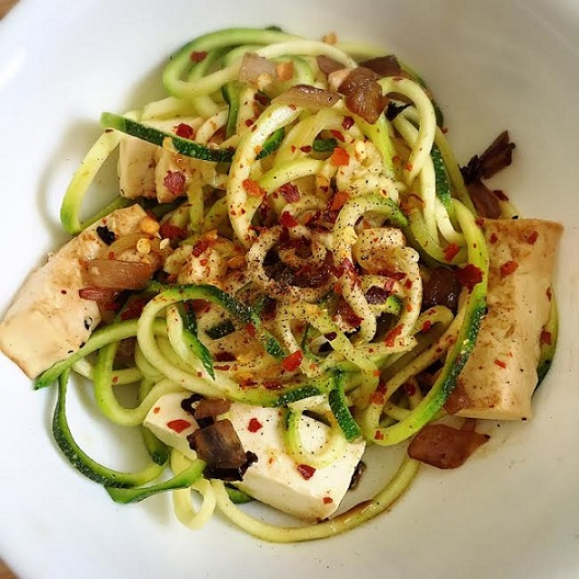 Spicy Zoodles with Tofu
