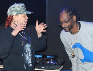 Faith & @SnoopDogg Hit The Studio Together #TKAI