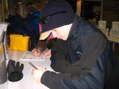 paperwork before skiing