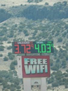 price of diesel in nm