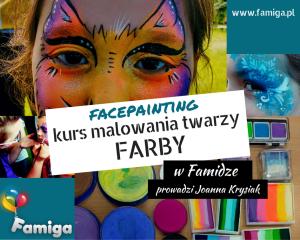 kurs malowania twarzy Farby facepainting Kraków