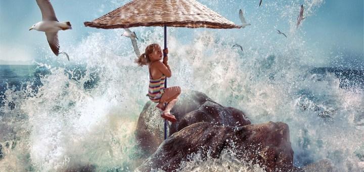 kind strand Wasser welle