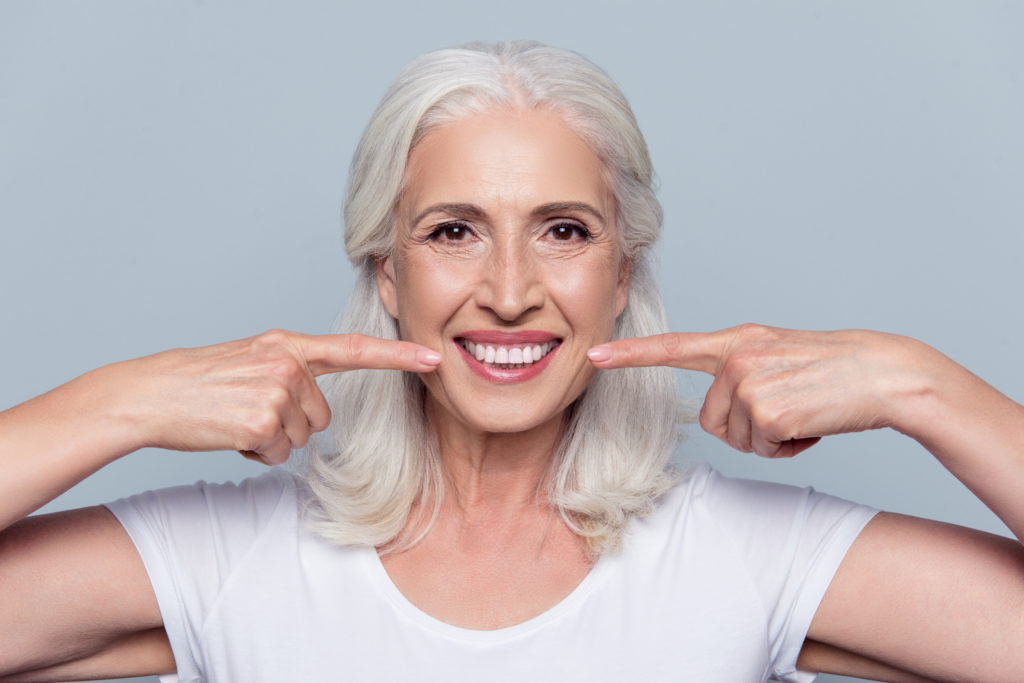 older woman with new smile