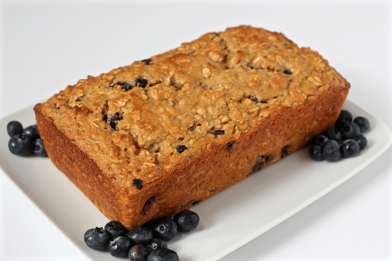 delicious, moist and light whole grain blueberry yogurt bread!