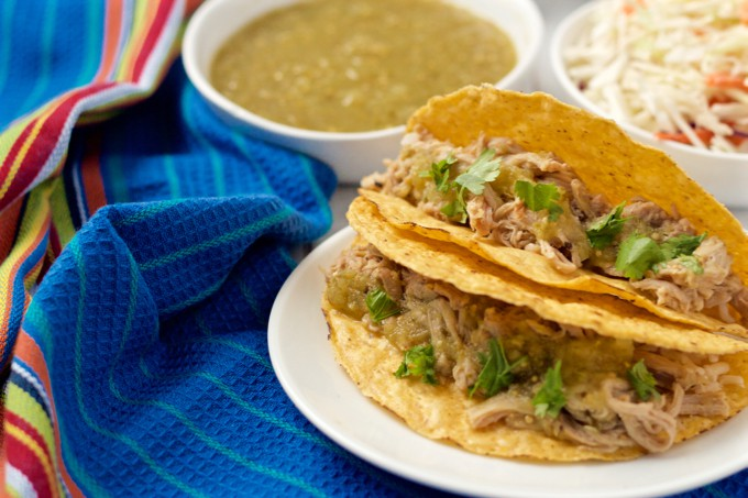 Tender, flavorful shredded pork with salsa verde is great for tacos ...