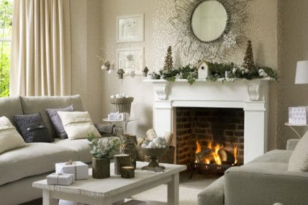 elegant christmas country living room decor ideas 07