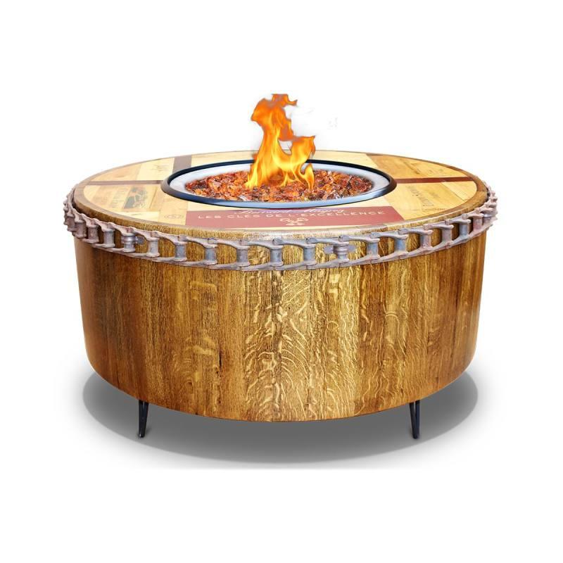 Large Of Wine Barrel Fire Pit