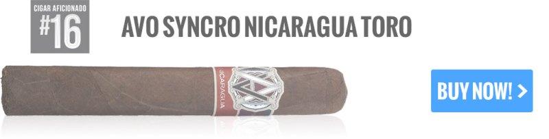 top 25 cigars avo syncro nicaragua toro cigars
