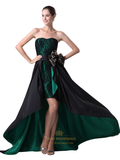 Medium Of Black Strapless Dress