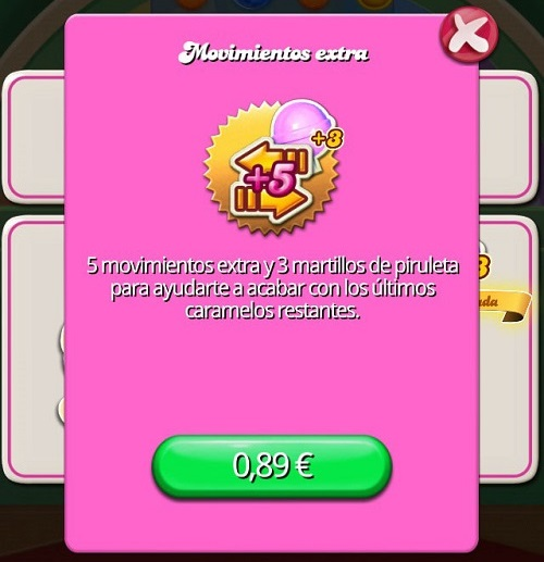 Micropago Candy Crush Saga