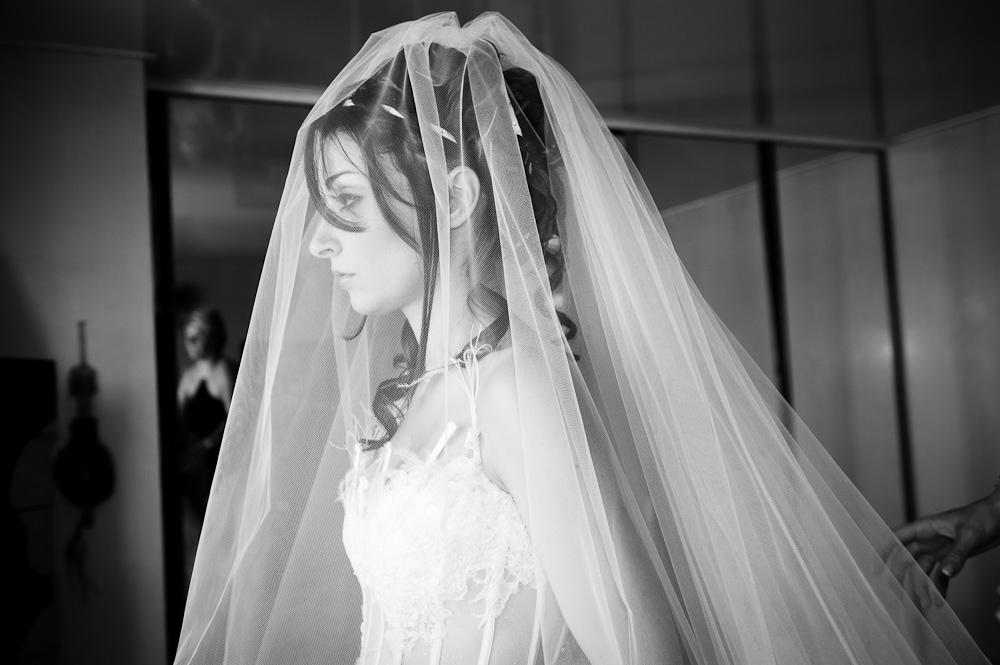 Mariée au voile, préparatifs du mariage à clermont-ferrand.
