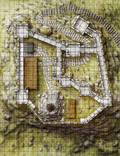 Watchfire Keep fantasy map pack