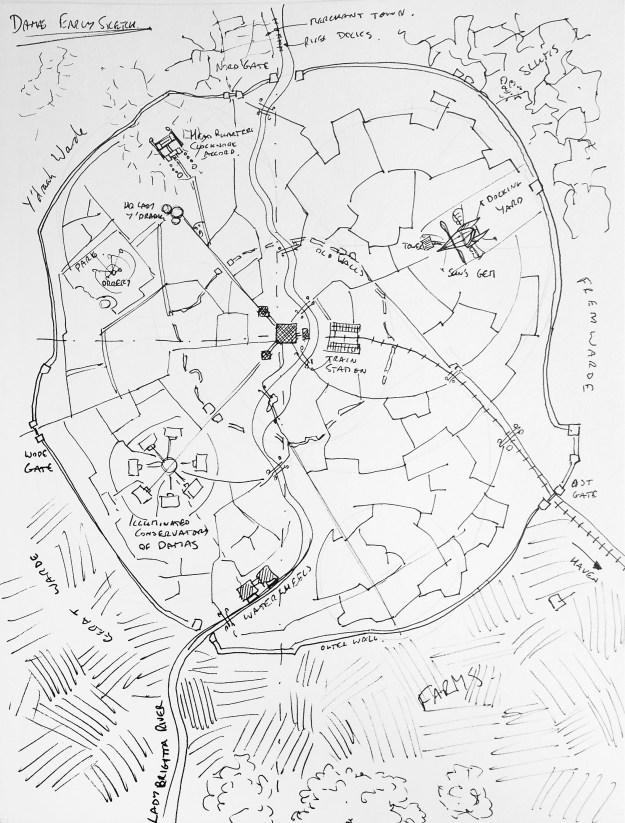 Work in progress of fantasy city map