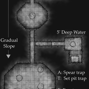 Castle dungeon map
