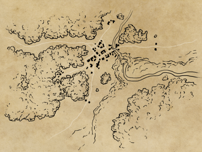 how to draw a map: line art