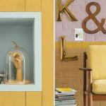Wandfarbe Goldocker