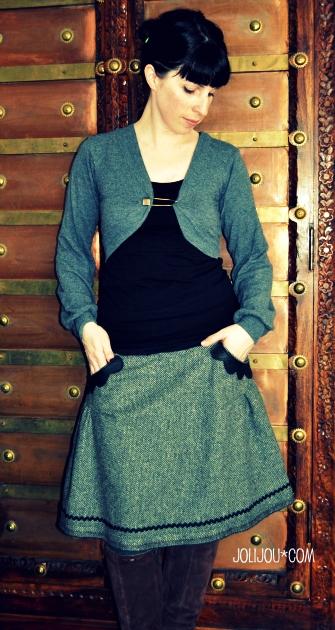 Damenrock selber nähen, Schnittmuster farbenmix